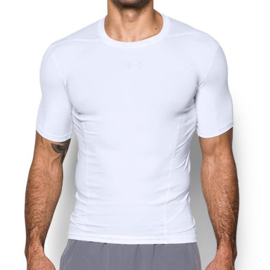 "Under Armour Compression Shirt ""Supervent Armour"" - White - Shortsleeve"