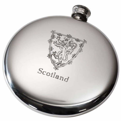 4Oz Premier Pewter Sporran Flask With Lion Of Scotland Hip Flask 18 18Th 21 21St 4 Ounce Buyahipflask.com