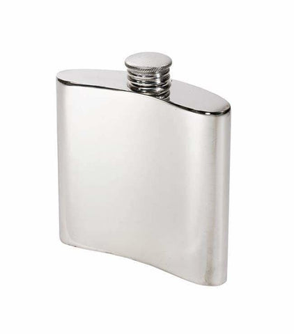 4Oz Premier Plain Pewter Hip Flask Hip Flask 4 Ounce 4Oz Anniversary Best-Man Birthday Buyahipflask.com 4Oz-Heritage-Plain-Pewter-Hip-Flask