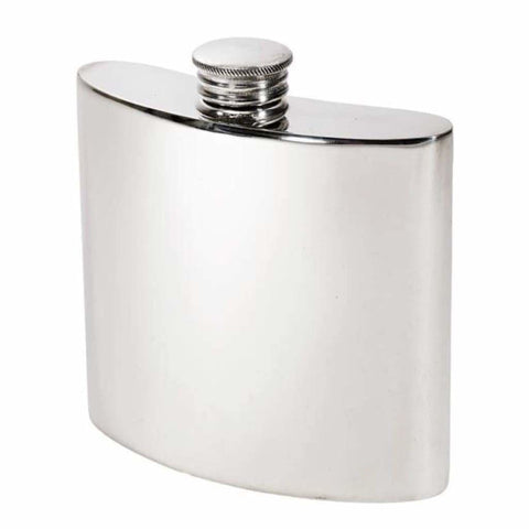 4Oz Premier Plain Pewter Hip Flask Hip Flask 18 18Th 21 21St 4 Ounce Buyahipflask.com 4Oz-Heritage-Plain-Pewter-Hip-Flask Free Shipping