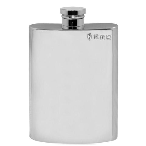 4oz Traditional Plain Pewter Hip Flask Hip Flask 4 ounce, 4oz, anniversary, badge-new, buyahipflask.com buyahipflask.com
