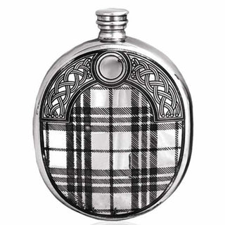 6Oz Traditional Pewter Wedge Flask With Sporran Design Hip Flask 6 Ounce 6Oz Anniversary Badge-Bestseller Best-Man Buyahipflask.com