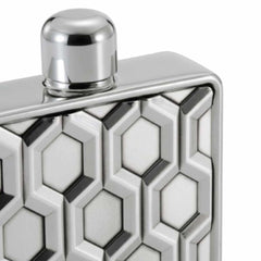 Hexagon Pewter Hip Flask