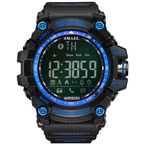 Multi-function Bluetooth Smart Sport Electronic Watch - Blue