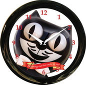 12in Round Smile Clock Kit Cat Clock