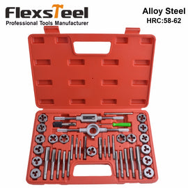 Flexsteel Top Quality Alloy Steel Tap and Die Set Metric Tap Dies Set for Professional Use