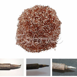 Welding Soldering Solder Iron Tip Cleaner Cleaning Steel Wire Sponge Balls