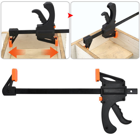 Adjustable Woodwork Kit 4 Inch Speedy Woodworking Bar F-Clamp Plastic Woodworking Tool