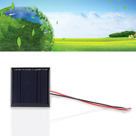 Gizcam 0.25W DC 5V Solar Panels Battery Charger Module Cable Polycrystalline Silicon DIY Outdoor Solar Cells Phone Charging