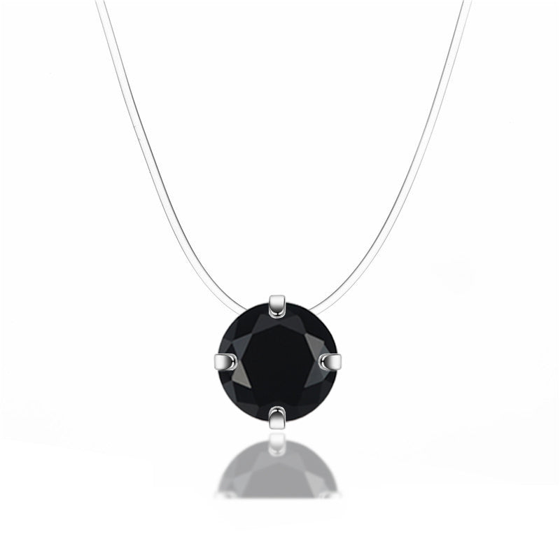 Collier diamant fil nylon