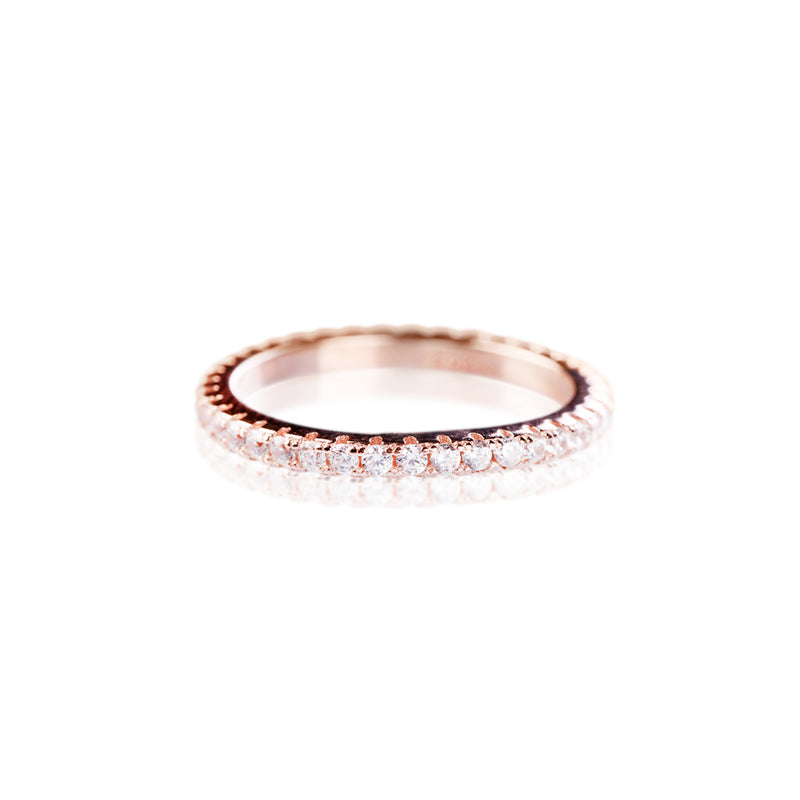 Bague fine or rose