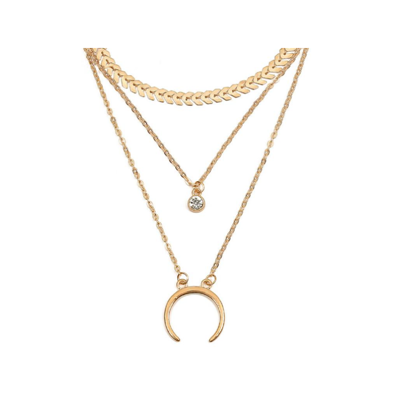 Collier Demi-Lune Or