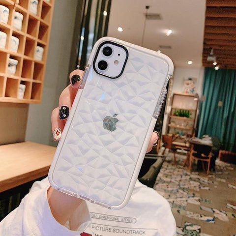 Lucid Cases 11 Pro Max / White Protector - 3D Diamond Edition
