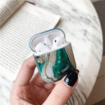 Lucid Cases AirPodsCase Agate Luxury Glossy Marble AirPods Case
