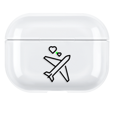 Lucid Cases AirPodsCase Cute Plane - Hard AirPods Pro Case