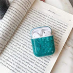 Lucid Cases AirPodsCase Green Luxury Glossy Marble AirPods Case
