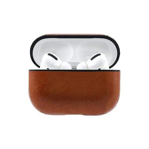Lucid Cases AirPodsCase Light Brown Protective Leather AirPod Pro Case