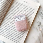 Lucid Cases AirPodsCase Pink Luxury Glossy Marble AirPods Case