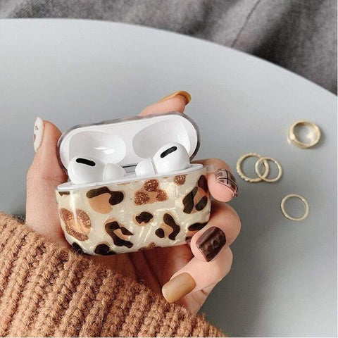 Lucid Cases - Soft Leopard Glitter AirPods Case