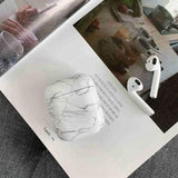 Lucid Cases AirPodsCase White Cute Marble AirPods Case