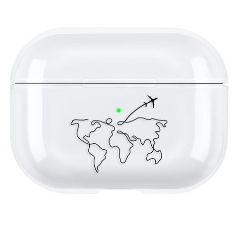 Lucid Cases AirPodsCase World Travel - Hard AirPods Pro Case