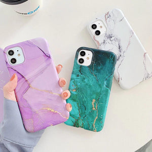 Lucid Cases - Matte Cracked Marble - Soft iPhone Case