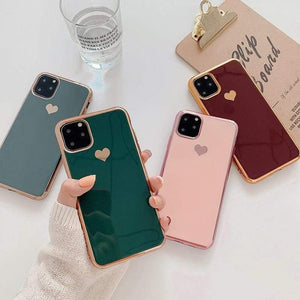 Lucid Cases - Electroplated Heart iPhone Case