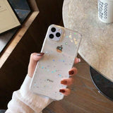 Lucid Cases for iphone 11Pro Max / Clear Glitter Stars - Soft iPhone Case