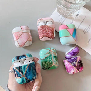 Lucid Cases Geometric Marble AirPods Case