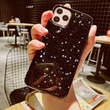 Lucid Cases iPhone Case 11 Pro Max / Black Moon Sparkle - Soft iPhone Case