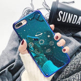 Lucid Cases iPhone Case 7/8 / Planets Cute Glossy Space iPhone Cases