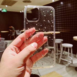 Lucid Cases iPhone Case Moon Sparkle - Soft iPhone Case