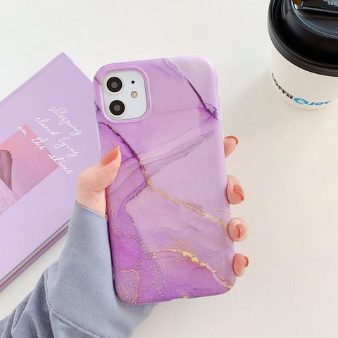 Matte Cracked Marble - Soft iPhone Case