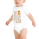 white baby bodysuit, fathers day baby onesie, body suit baby, baby body suit, baby bodysuit, custom baby onesies, baby girl onesies, baby boy onesies, cute baby onesies, short sleeve onesie, baby animal onesies, baby bodysuits sale, personalized baby onesies
