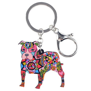 Ligero Pit Bull Multi Colored Key Chain