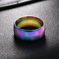 Ligero Stainless Steel Paw Print Ring