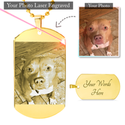 20% OFF+ Free Shipping Premium Etched Photo Necklace