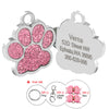 Ligero Paw Print Pet ID Tags-Stainless Steel