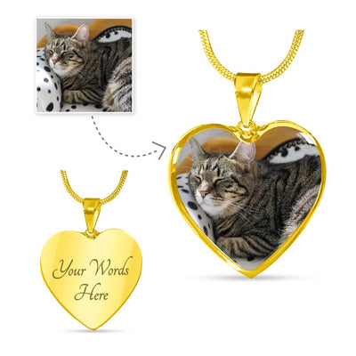 20% Off + FREE Shipping Deluxe Photo Heart Necklace