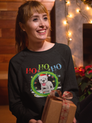 FREE Shipping!      Ho Ho Ho Pit Bull Adult Crewneck Sweat Shirt 🎄🎁