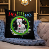 FREE! Shipping/Ho Ho Ho Pit Bull  Premium Pillow/Double Sided🎄🐾