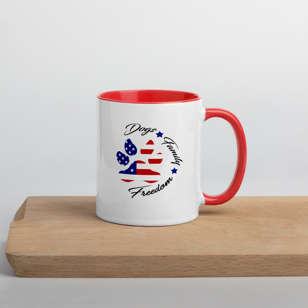Dogs Family Freedom-Mug with Color Inside