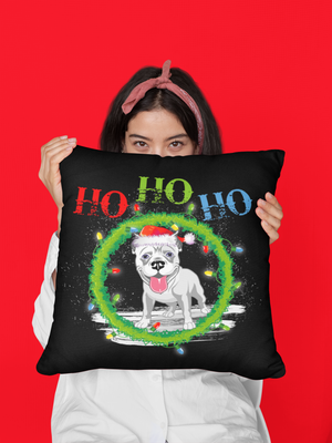 FREE! Shipping/ Santa Paws Pit Bull Pillow Premium Pillow/Double Sided 🎁🐾
