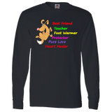 """Mans Best Friend""  Long Sleeve T Shirt🎁🐾Makes a Great Gift"