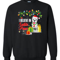 FREE! Shipping!/Santa Paws Pit Bull Adult Crewneck Sweat Shirt 🎁🐾
