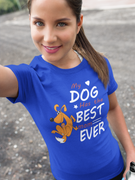 """My Dog Has The Best Mom  Adult  T-Shirt"