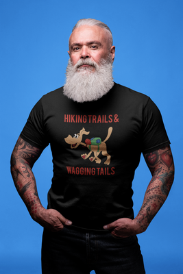 Hiking Trails and Wagging Tails -Adult Size T-Shirt