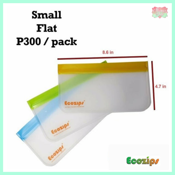 Ecozips Small Flat (Pack of 3)
