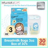 SUNMUM Breastmilk Storage Bags 3oz (30s)