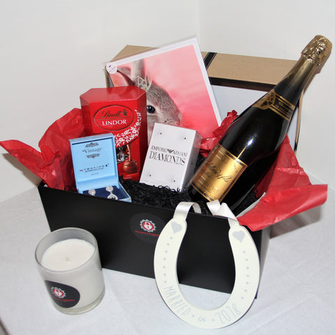 Bride Box by Romance Engineers. Bride box that is delivered to your new Bride on the morning of your wedding. Perfect gift for that Bride to be Gift Boxes for all ocassions - Proposal Planning Dublin Ireland Proposal engaged how to propose in Ireland